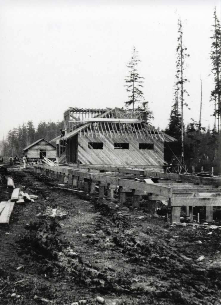 CDM 989.204.3  Courtenay E&N station under construction.