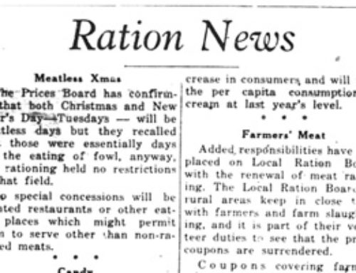 It's All There in Black and White: Rationing in the Comox Valley